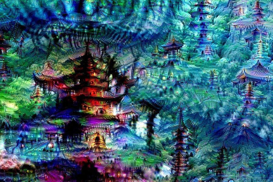 Artistic Image Created By A Deep Learning Network